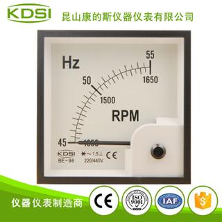 指針式頻率表+轉速表 BE-96 45-55HZ +1350-1650RPM