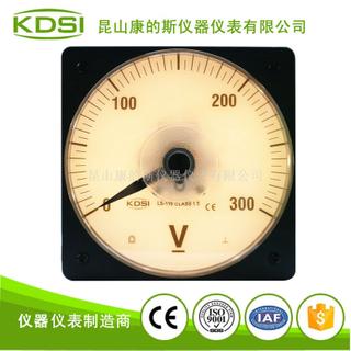 指針圓形黃色燈光直流電壓表LS-110 DC300V