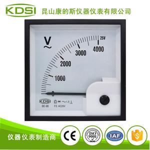 指針式電壓表BE-96 AC25V 4000V整流式