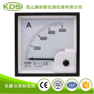 指針式電流表BE-96 DC75mV 8000A
