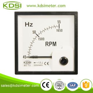 指針式 頻率表+轉速表 BE-72 45-55HZ +1350-1650RPM